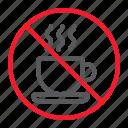 ban, coffee, forbidden, no, prohibition, stop, tea icon