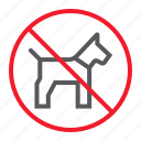 ban, dog, forbidden, no, pet, prohibition, stop