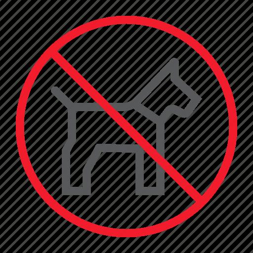 ban, dog, forbidden, no, pet, prohibition, stop icon