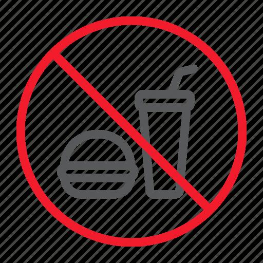 ban, drink, food, forbidden, no, prohibition, stop icon