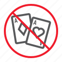 ban, casino, forbidden, gambling, no, prohibition, stop icon