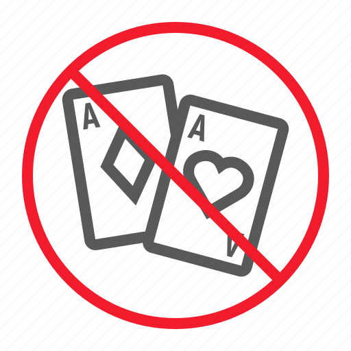ban, casino, forbidden, gambling, no, prohibition, stop icon
