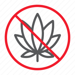 ban, cannabis, forbidden, marijuana, no, prohibition, stop icon