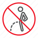 ban, forbidden, no, pee, peeing, prohibition, stop icon