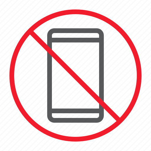ban, forbidden, no, phone, prohibition, smartphone, stop icon