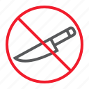 ban, forbidden, knife, no, prohibition, sharp, stop icon