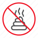 ban, feces, forbidden, no, prohibition, shit, stop icon