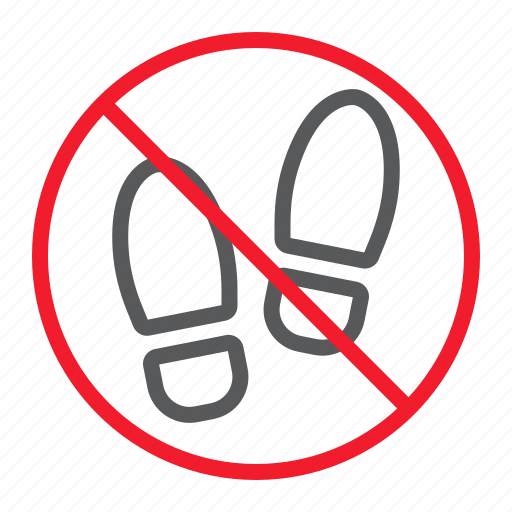 Ban, foot, forbidden, no, prohibition, shoes, stop icon - Download on Iconfinder