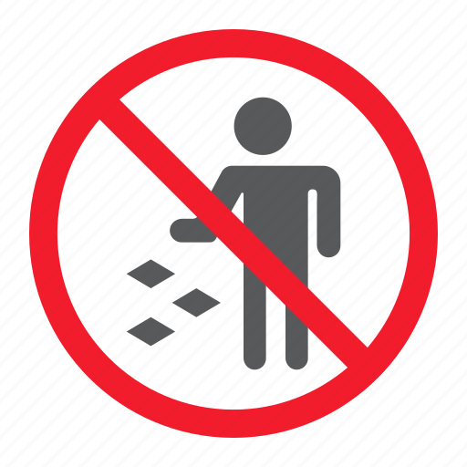 ban, do, forbidden, garbage, litter, not, prohibition icon