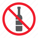 alcohol, ban, drink, forbidden, no, prohibition, stop icon