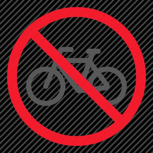 ban, bicycle, bike, forbidden, no, prohibition, stop icon