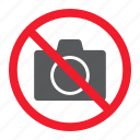 ban, camera, forbidden, no, photo, prohibition, stop icon