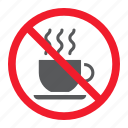 ban, coffee, forbidden, no, prohibition, stop, tea icon