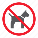 ban, dog, forbidden, no, pet, prohibition, stop icon