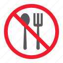 ban, eating, food, forbidden, no, prohibition, stop icon