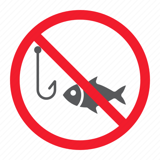 ban, fish, fishing, forbidden, no, prohibition, stop icon