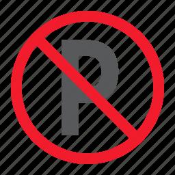ban, car, forbidden, no, parking, prohibition, stop icon