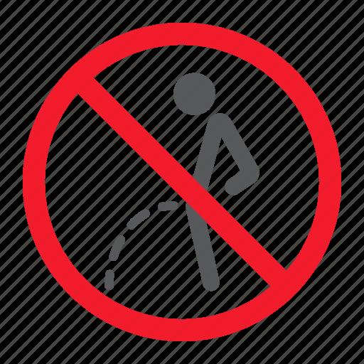ban, forbidden, no, pee, peeing, prohibition, stop icon