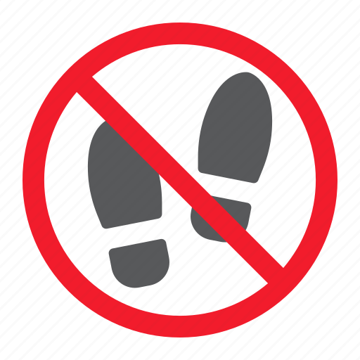 ban, foot, forbidden, no, prohibition, shoes, stop icon