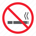 ban, cigarette, forbidden, no, prohibition, smoking, stop icon