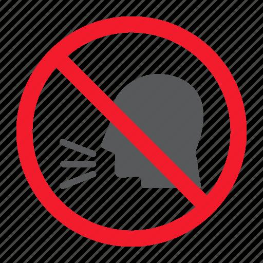 ban, forbidden, keep, no, prohibition, silence, sound icon