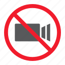 ban, camera, forbidden, no, prohibition, stop, video icon