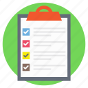 checklist, productivity report, questionnaire, survey list, to do list icon
