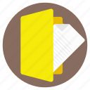 computer file, digital file, document holder, file, folder icon