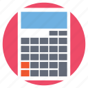 accounting, calculation, mathematics, office accessory, stationery icon