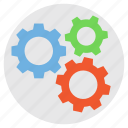 gear and cog, gear mechanism, production, setting, work symbol icon