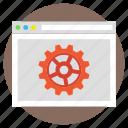 web development, web production, website building, website optimization, website under construction icon