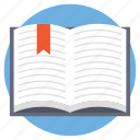 book with ribbon, encyclopedia, knowledge, open book, study concept icon