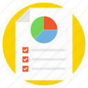 pie chart analysis, productivity information, proportional analysis, statistical analytics, survey graph icon