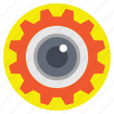 eye focus, production monitoring, productivity analysis, target, vision icon