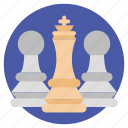chess figure, chess game, leisure battle, strategy play, target planning icon