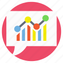 business analysis, business analytics, business graph, graphic report, statistics icon