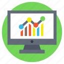 online graph, web analytics, web infographic, web ranking, web rating icon