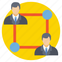 business relation, collaboration, management, teamwork, work group icon