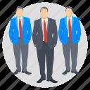 business partners, businessmen, entrepreneurs, investors, management icon