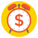 money time, save time, time is money, time management, time value icon