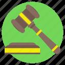 auction, bidding, judgement, justice symbol, sale icon
