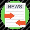 journal, news advertisement, newsletter, newspaper, print media icon