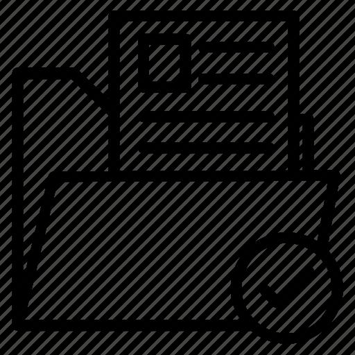 safe document, safe folder, verified data, verified files, verified folder icon