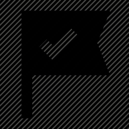 flag, goal, milestone, office, planing icon