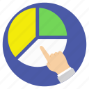 business analysis, business growth, pie chart analysis, profit projection, project analytics icon