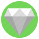 crystal, diamond, gemstone, jewel, quality success icon