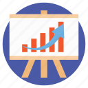 business analysis, business analytics, business graph, graphic presentation, statistics icon