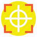 focus, goal achievement, monitoring, sniper point, target icon