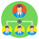 administrator, leadership, manager, team hierarchy, team leader icon