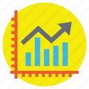 financial report, growth analysis, line graph analytics, project analysis, sales report icon